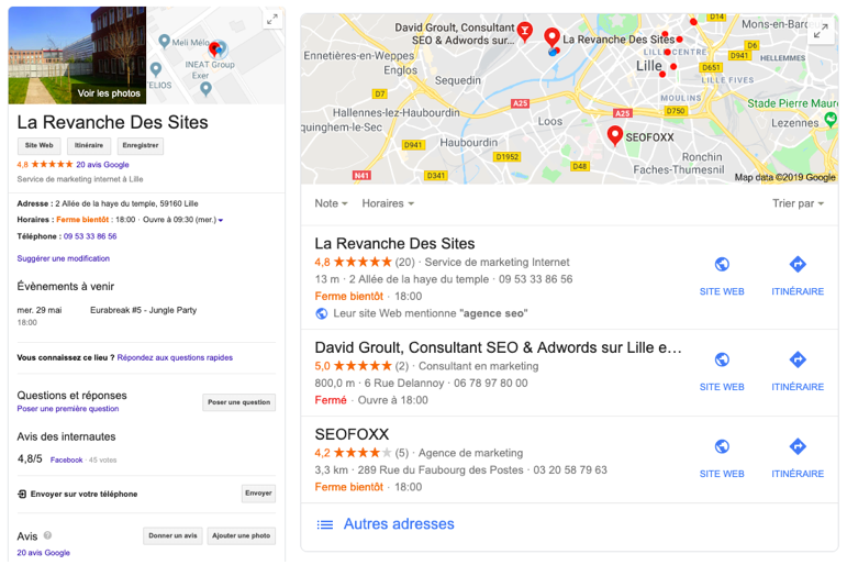 google maps la revanche des sites