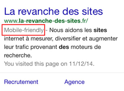 label mobile friendly visible sur les serps des smartphones
