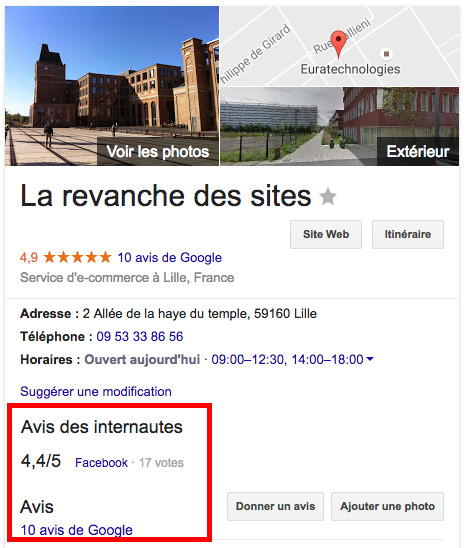 La revanche des sites sur Google My Business